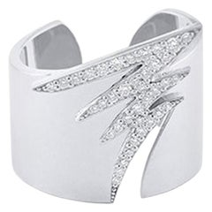 Alessa Signature Pave Ring 18 Karat White Gold Signature Collection