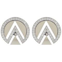 Alessa Spiritual Earrings 18 Karat White Gold Elixir Collection