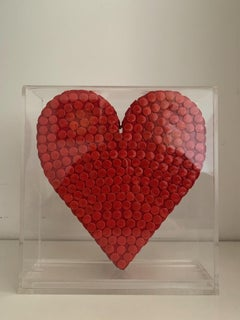 RED FLAT HEART