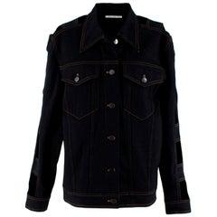 Alessandra Rich Black Cut Out Denim Jacket - Size US 6
