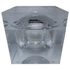 Alessandro Albrizzi Lucite World Globe Form Ice Bucket