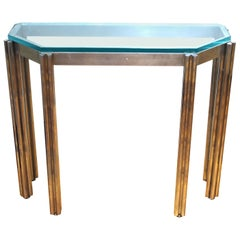 Alessandro Albrizzi Wall Console in Chrome and Glass