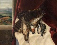 Still Life - Original Oil on Panel by A. Bruschetti - Mid 1900