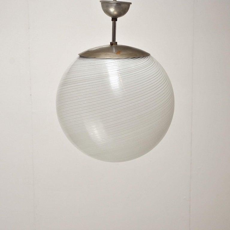 Mid-Century Modern Alessandro Diaz de Santillana Chandelier for Venini, 1960s For Sale