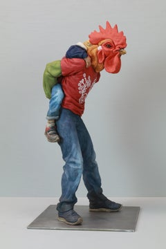 """You'll Never Walk Alone"", Contemporary, Ceramic, Figurative, Sculpture, Animals"