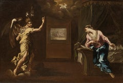 Annunciation a Painting by Alessandro Magnasco, an Italian Baroque Painter