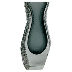 Alessandro Mandruzzato Faceted and Textured Murano Sommerso Glass Vase