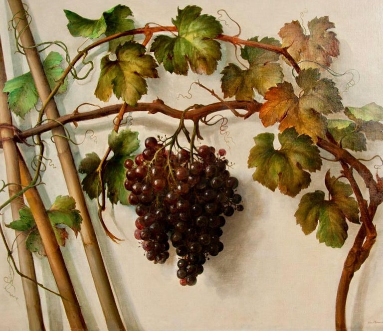 Italian Alessandro Mantovani 'Ferrara 1814-Roma 1892' Red Grapes-White Grapes For Sale