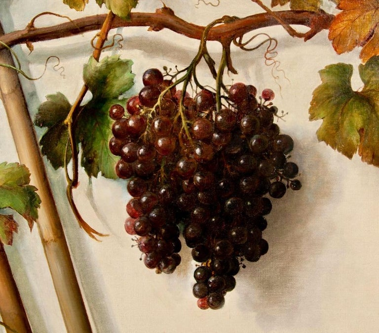 Painted Alessandro Mantovani 'Ferrara 1814-Roma 1892' Red Grapes-White Grapes For Sale