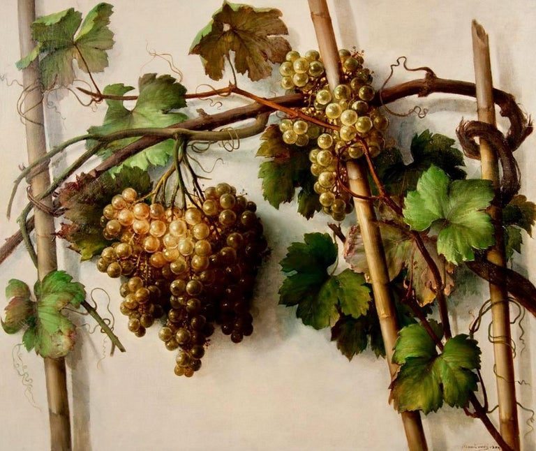 Late 19th Century Alessandro Mantovani 'Ferrara 1814-Roma 1892' Red Grapes-White Grapes For Sale