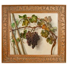 Alessandro Mantovani 'Ferrara 1814-Roma 1892' Red Grapes-White Grapes
