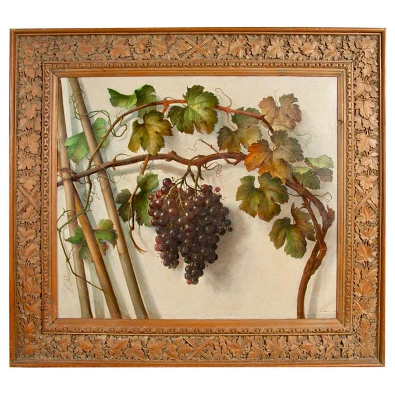 Alessandro Mantovani 'Ferrara 1814-Roma 1892' Red Grapes-White Grapes For Sale