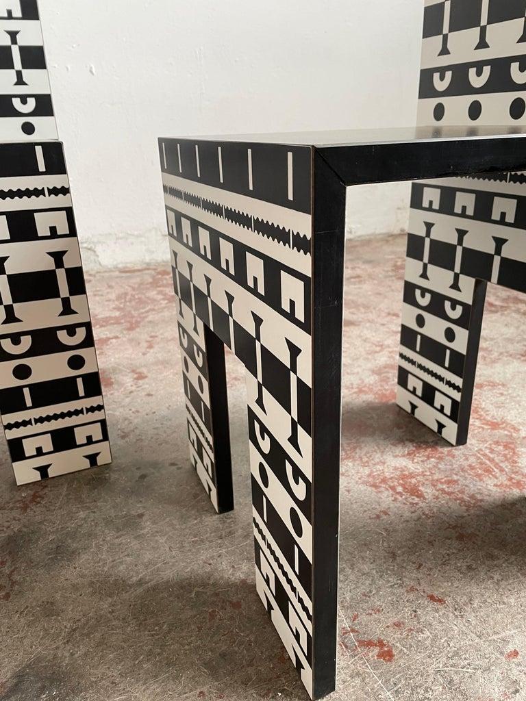 Alessandro Mendini and A. Guerriero, Table and Chairs 'Ollo', Studio Alchimia For Sale 1