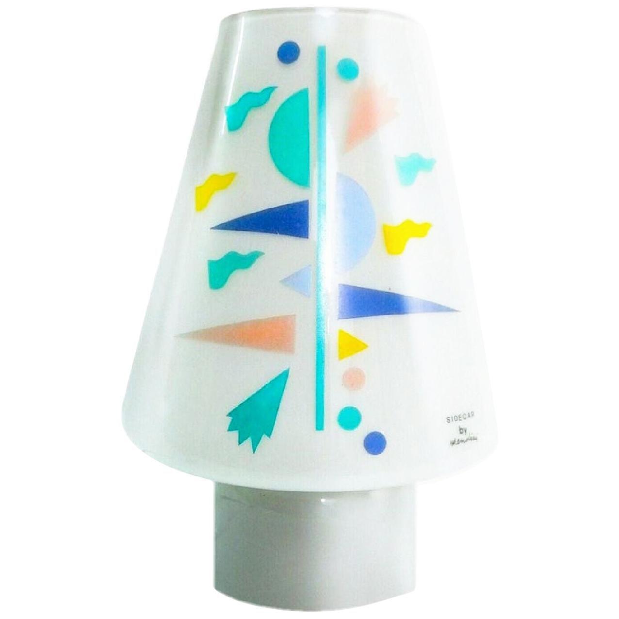 Alessandro Mendini Artemide Sidecar Table Lamp Murano Glass Postmodern Clearance