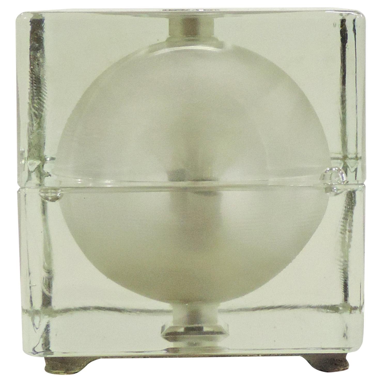 Alessandro Mendini Cubosfera Table Lamp, Italy, 1960s