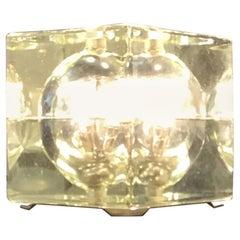 "Alessandro Mendini ""Cubosfera"" Tre Table Lamp or Appliqués, Glass Brass, 1968"