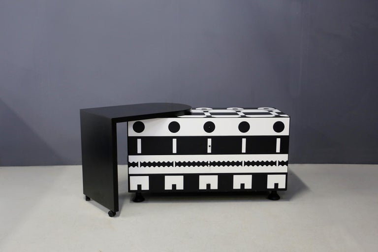 Collector's chest of drawers designed by Alessandro Mendini,