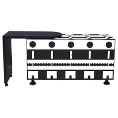 Alessandro Mendini Dresser Collection Ollo Black  White for Alchimia Design 1980