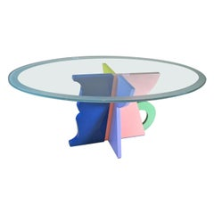 Alessandro Mendini Italian Midcentury Table by Memphis from the 1980s