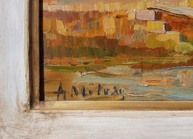 19th century Italian landscape painting - Venetian - Oil on panel Venice Italy For Sale 1