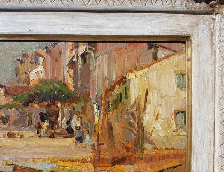19th century Italian landscape painting - Venetian - Oil on panel Venice Italy For Sale 3
