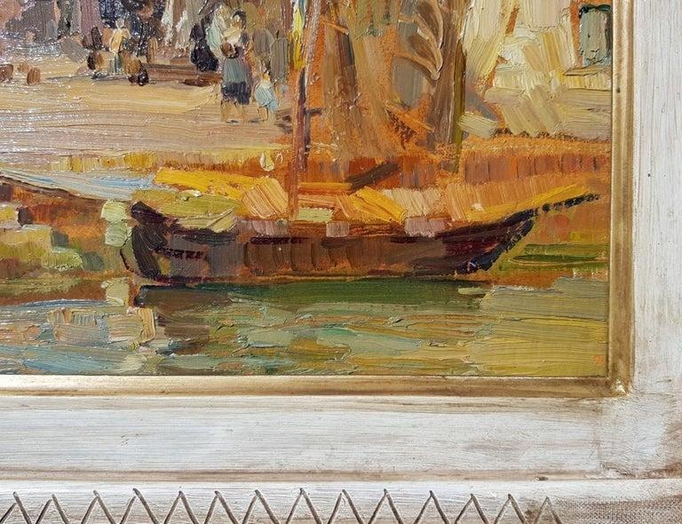 19th century Italian landscape painting - Venetian - Oil on panel Venice Italy For Sale 4