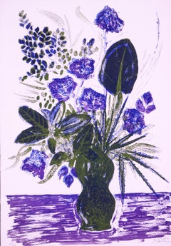 Regal Flower Arrangement original lithograph by Alessandro Nastasio