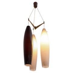 Alessandro Pianon Large Pendant with Three Murano Glass Shades