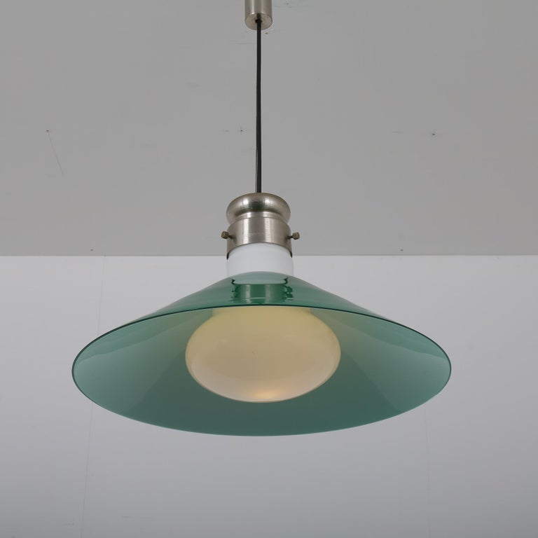 Mid-Century Modern Alessandro Pianon Murano Glass Hanging Lamp for Vistosi, Italy, 1970 For Sale