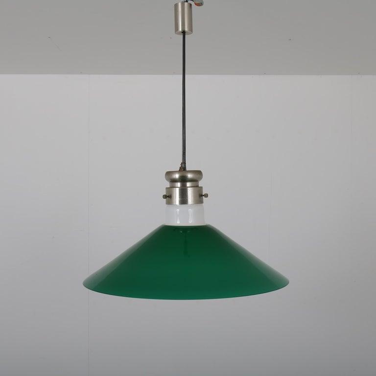 Italian Alessandro Pianon Murano Glass Hanging Lamp for Vistosi, Italy, 1970 For Sale
