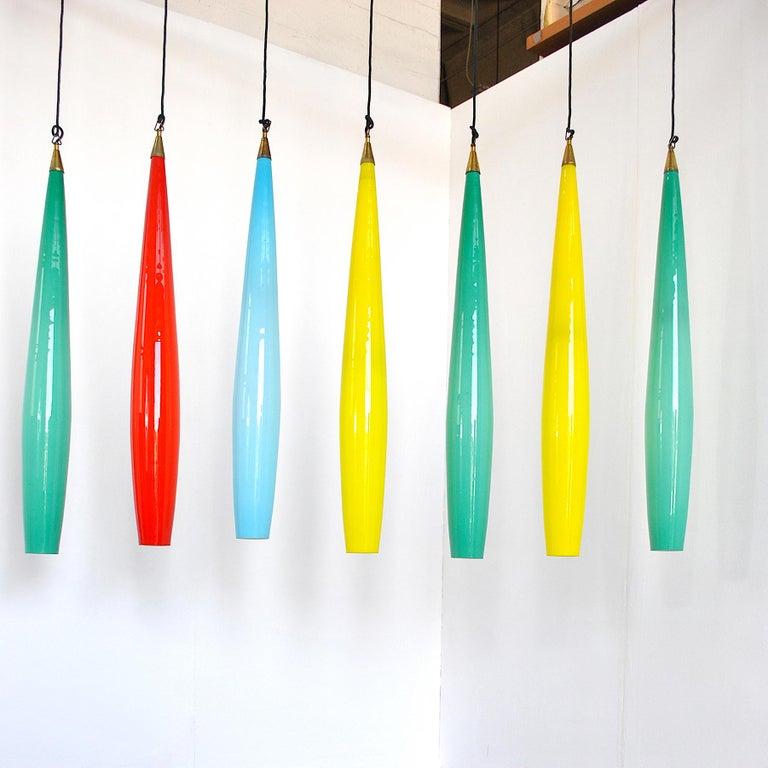 Alessandro Pianon Vistosi Chandelier in Murano Colored Glass, 60's For Sale 4