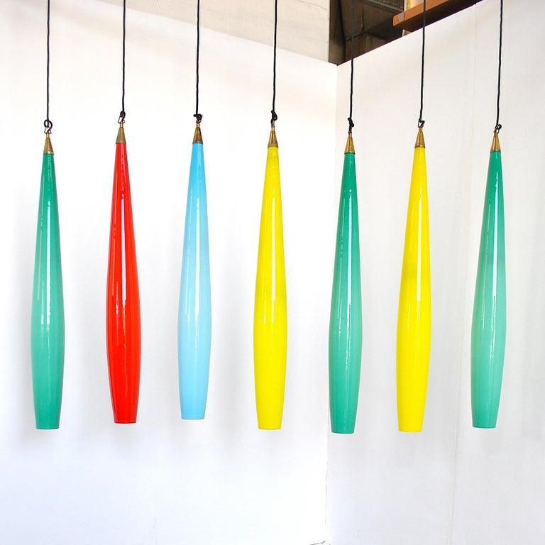 Alessandro Pianon Vistosi Chandelier in Murano Colored Glass, 60's For Sale 5