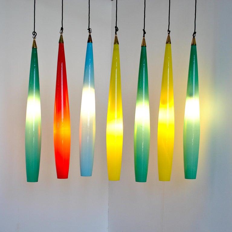 Alessandro Pianon Vistosi Chandelier in Murano Colored Glass, 60's For Sale 6