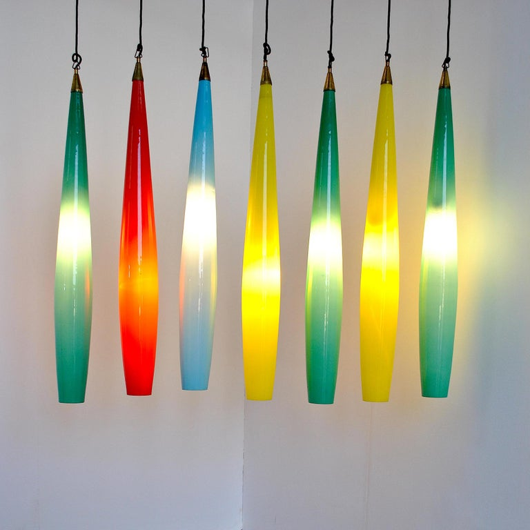 Alessandro Pianon Vistosi Chandelier in Murano Colored Glass, 60's For Sale 7