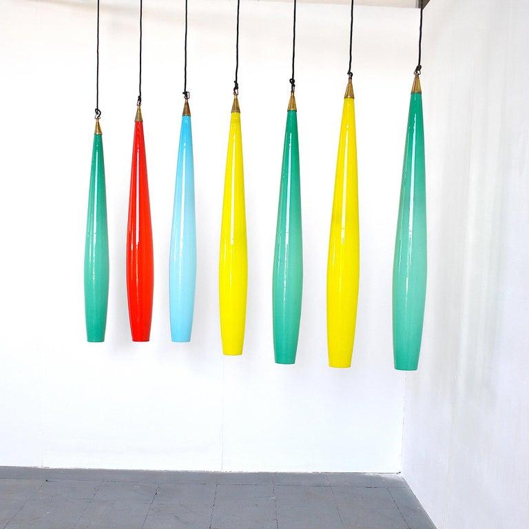 Alessandro Pianon Vistosi Chandelier in Murano Colored Glass, 60's In Excellent Condition For Sale In bari, IT