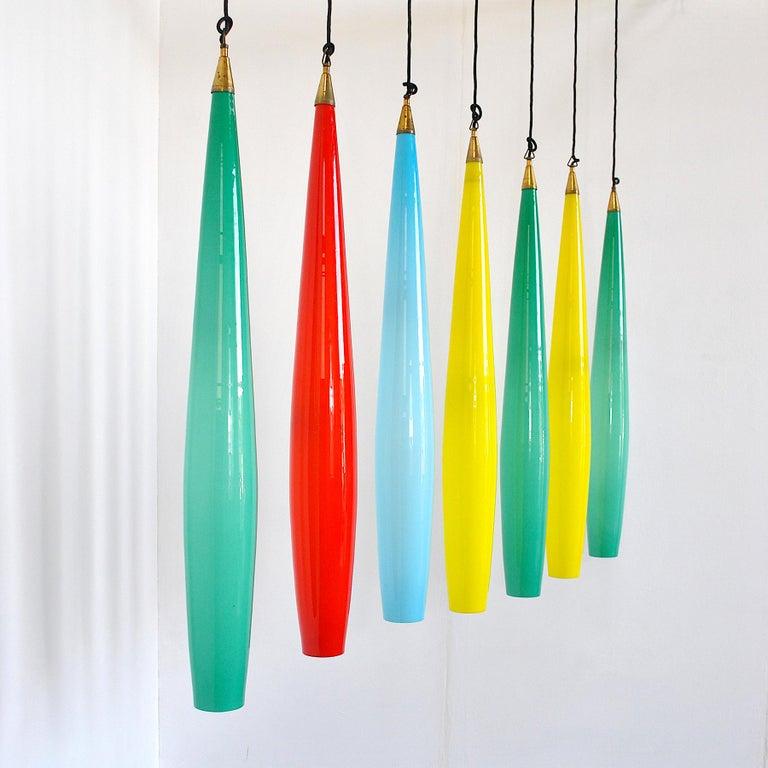 Alessandro Pianon Vistosi Chandelier in Murano Colored Glass, 60's For Sale 1