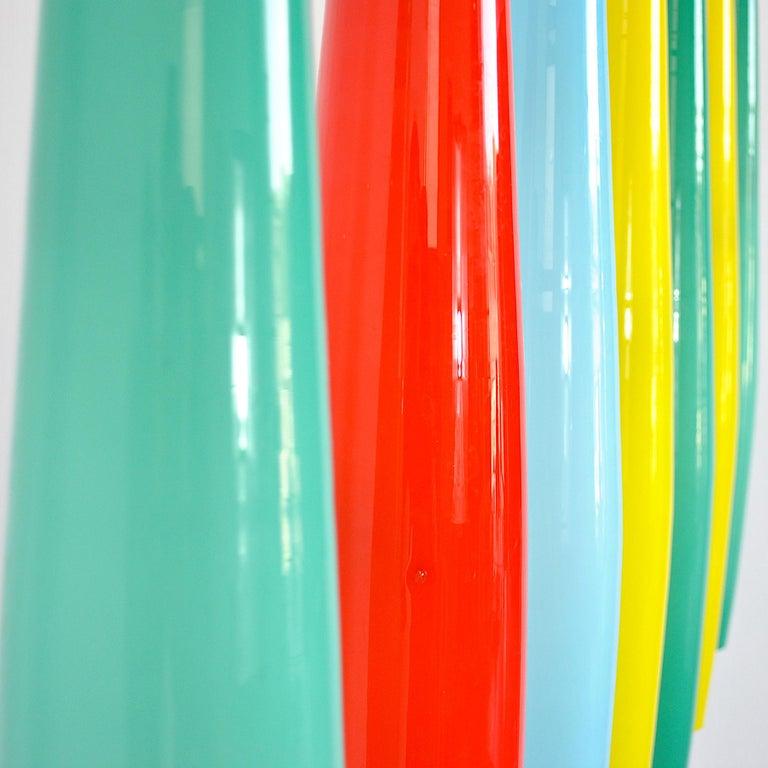 Alessandro Pianon Vistosi Chandelier in Murano Colored Glass, 60's For Sale 2