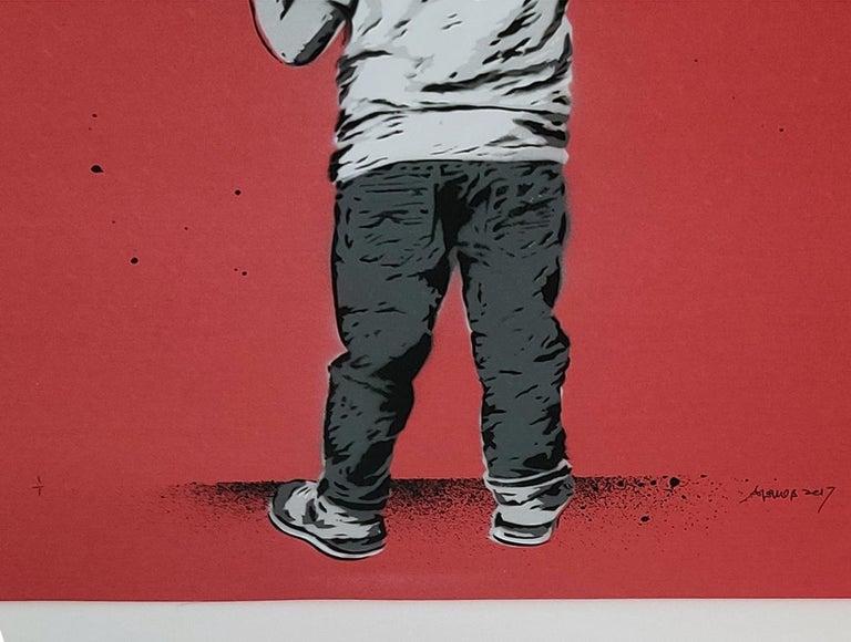HEART - Street Art Mixed Media Art by Alessio-B