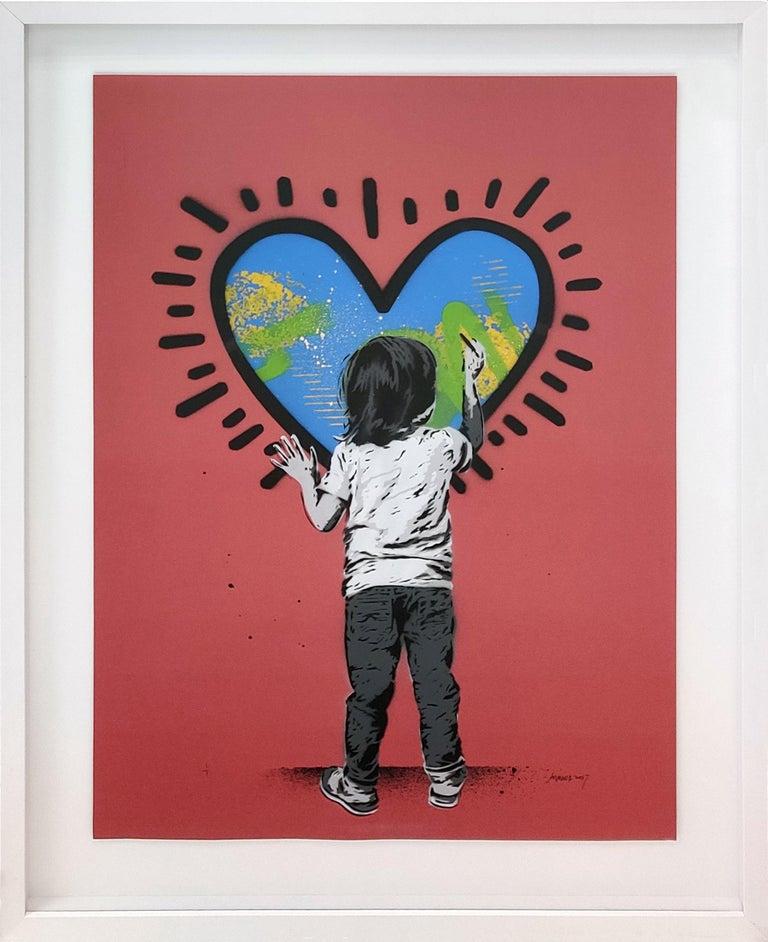 HEART - Mixed Media Art by Alessio-B