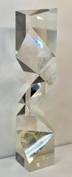 Alessio Tasca Large Scale Geometric Lucite Sculpture C.1970