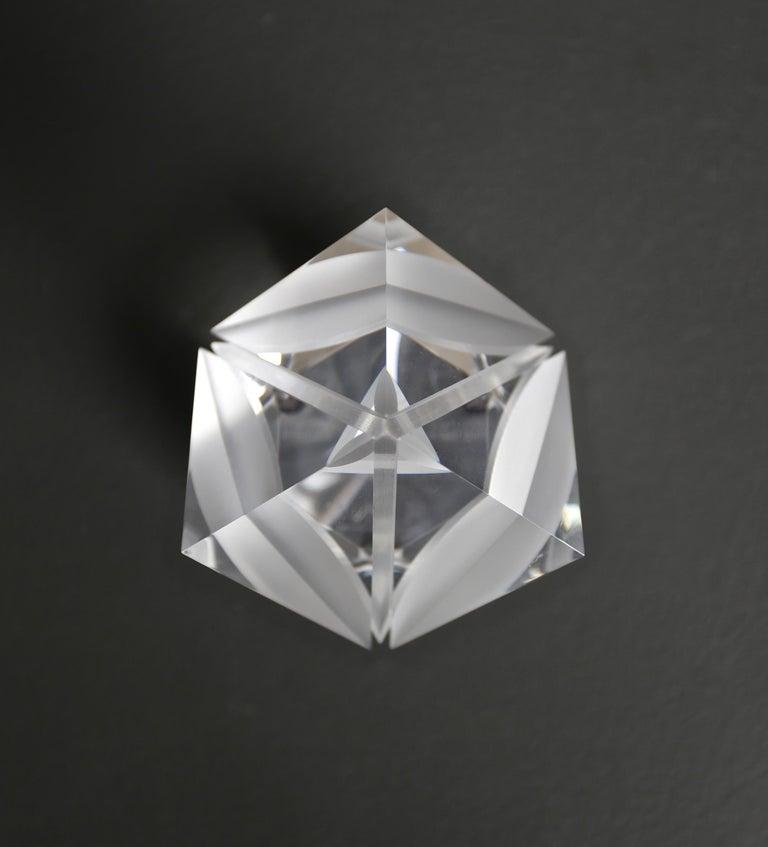 Modern Alessio Tasca Acrylic Prism Sculpture for Fusina, circa 1970 For Sale