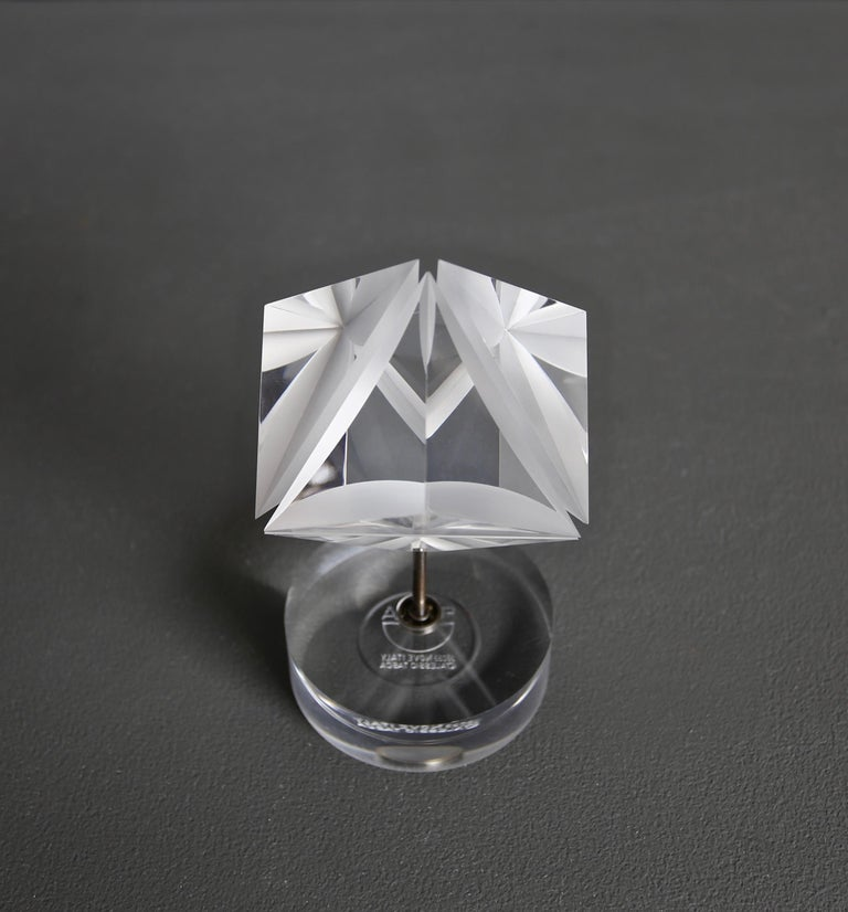 Italian Alessio Tasca Acrylic Prism Sculpture for Fusina, circa 1970 For Sale