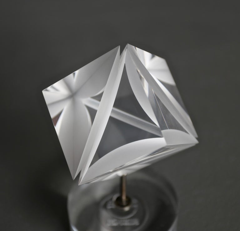 20th Century Alessio Tasca Acrylic Prism Sculpture for Fusina, circa 1970 For Sale