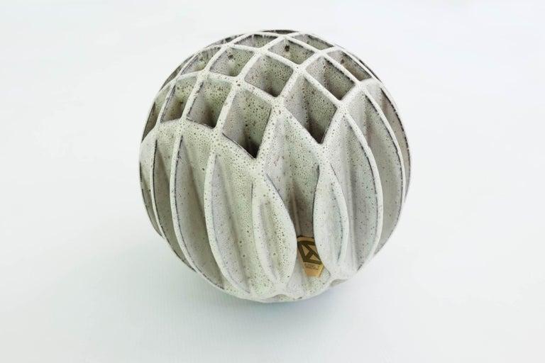 Mid-Century Modern Alessio Tasca Sphere Sculpture Ikebana Vase For Sale