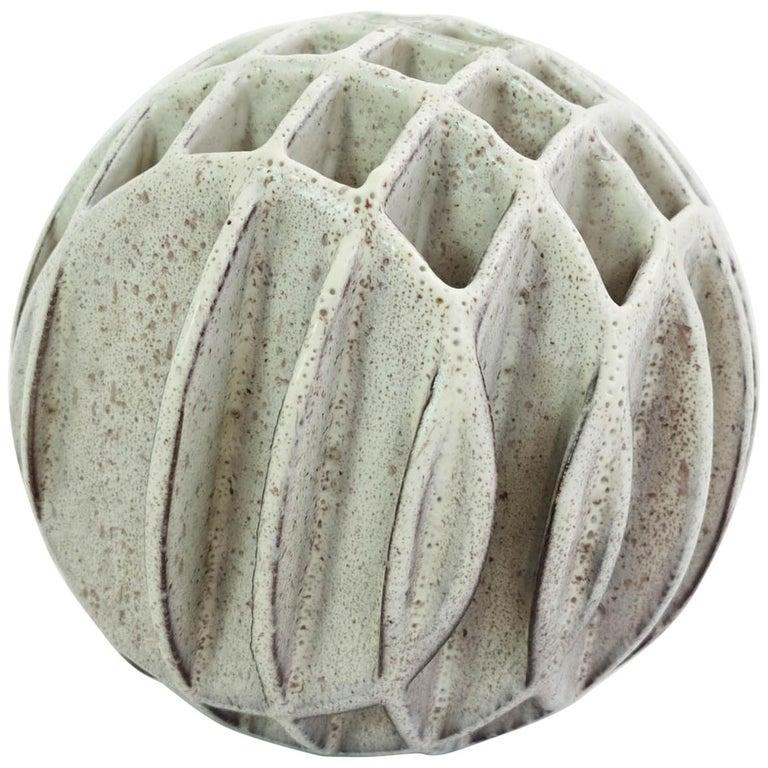 Alessio Tasca Sphere Sculpture Ikebana Vase For Sale