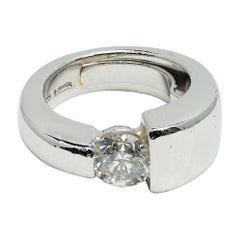 Aletto 2 Carat Diamond Modern Cut Men's Solitaire Ring in Platinum