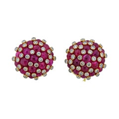 Aletto Brothers 25 Carat Ruby Diamond Gold Strawberry Earrings