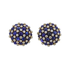 Aletto Brothers 25 Carat Sapphire Diamond Gold Blackberry Earrings