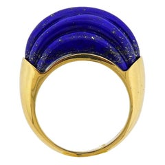 Aletto Brothers Carved Lapis Lazuli Gold Ring