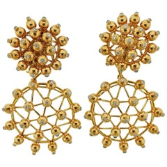Aletto Brothers Diamond Gold Night and Day Drop Earrings